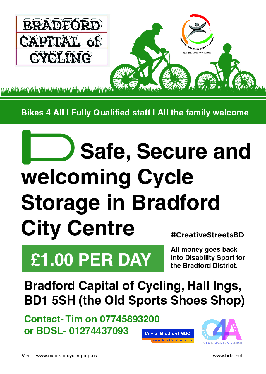 Secure Cycle Parking Flyer